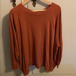 Aerie burnt orange crew neck sweater